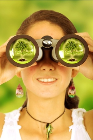 female ecologist watching out for the environment