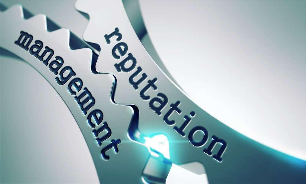 Reputation Management Concept on the Mechanism of Metal Cogwheels.