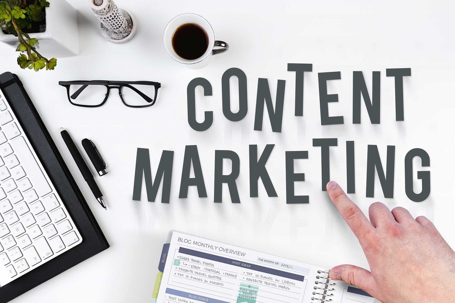 Content marketing includes driving growth in your sites organic traffic